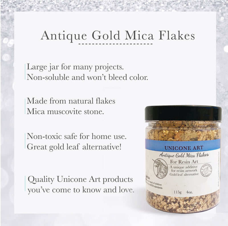 Antique Gold Mica Flakes