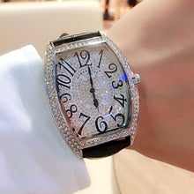 Load image into Gallery viewer, 2019 New Hot Selling Couple Watch Wine Barrel Shape FM Full Star Watch Full Diamond Waterproof Quartz Watch