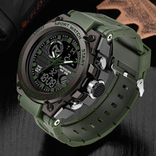 Load image into Gallery viewer, SANDA Brand Wrist Watch Men Watches Military Army Sport Style Wristwatch Dual Display Male Watch For Men Clock Waterproof Hours