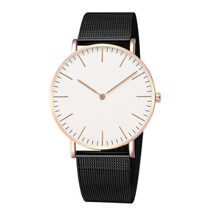 Luxury Brand Women Watches Fashion Stainless Steel Strap Quartz Wrist Watch Ultra-thin Ladies Dress Watch Men Watches Clock Gift
