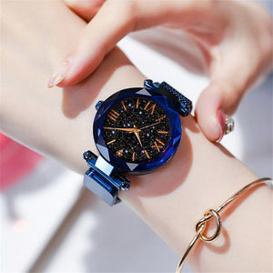 2019 Luxury Women Watches Magnetic Starry Sky Ladies Watch Quartz Wristwatch Dress Female Clock relogio feminino Free Shipping