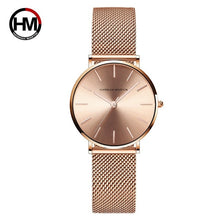 Load image into Gallery viewer, Drop shipping A++++ Quality Stainless Steel Band Japan Quartz Movement Waterproof Women Full Rose Gold Ladies Luxury Wrist Watch
