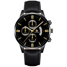 Load image into Gallery viewer, Relogio Masculino watches men fashion Sport box stainless steel leather band watch Quartz business wristwatch Reloj Hombre 2019
