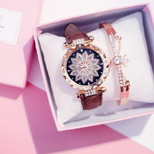 Load image into Gallery viewer, 2019 Women Watches Bracelet set Starry Sky Ladies Bracelet Watch Casual Leather Quartz Wristwatch Clock Relogio Feminino