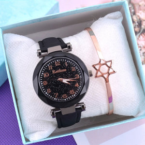 Fashion Starry Sky Women Watches Top Sale Leather Ladies Bracelet Watch Quartz Wristwatches Casual Female Clock Relogio Feminino