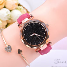 Load image into Gallery viewer, Fashion Starry Sky Women Watches Top Sale Leather Ladies Bracelet Watch Quartz Wristwatches Casual Female Clock Relogio Feminino