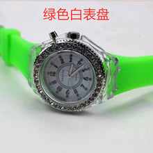 Load image into Gallery viewer, 2019 led Flash Luminous Watch Personality trends students lovers jellies woman men's watches 7 color light WristWatch best Gifts