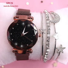 Load image into Gallery viewer, 2019 New brand Starry Sky Women Watch Fashion Elegant Magnet Buckle Vibrato Purple Gold Ladies Wristwatch Luxury Women Watches