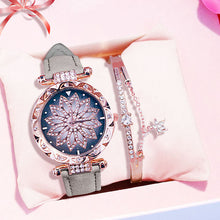 Load image into Gallery viewer, Luxury Women Watches Bracelet set Starry Sky Ladies Bracelet Watch Casual Leather Quartz Wristwatch Clock gift Relogio Feminino