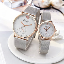 Load image into Gallery viewer, Stainless Steel Rhinestone Couple Watches Man And Ladies 2019 Luxury Quartz Wristwatch For Lovers Unisex Watch Montres Femme Hot