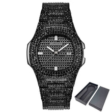 Load image into Gallery viewer, ICE-Out Bling Diamond Watch For Men Women Hip Hop Mens Quartz Watches Stainless Steel Band Business Wristwatch Man Unisex Gift