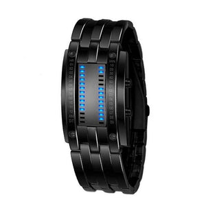 Technology Binary Watch Stainless Steel Date Digital LED Bracelet Sport Watches montre femme Men's Women's Watches