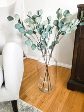 Load image into Gallery viewer, Silver Dollar Eucalyptus Stem (artificial)