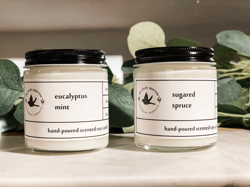 Dusty Sparrow Exclusive Candles