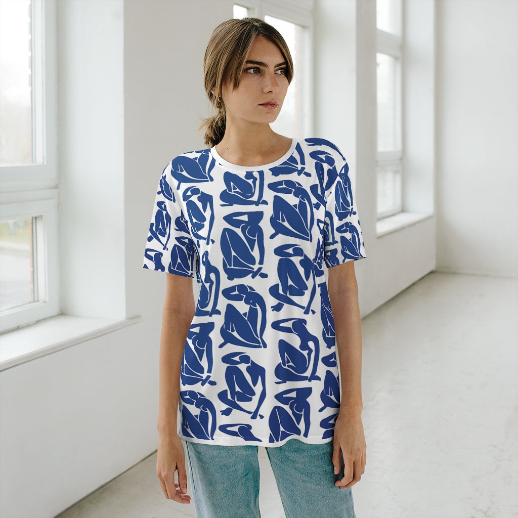 Blue Nude AOP Cut & Sew T-Shirt