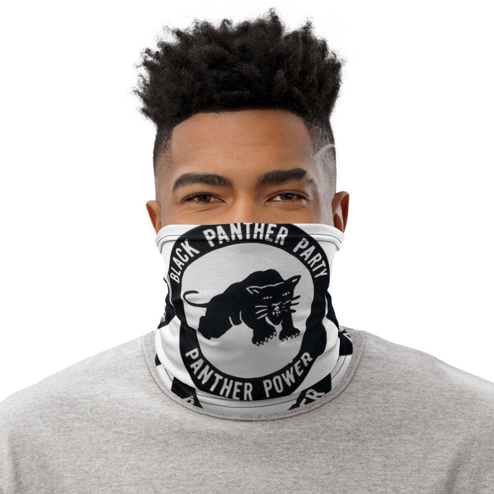 Black Panthers Party Face Mask Neck Gaiter