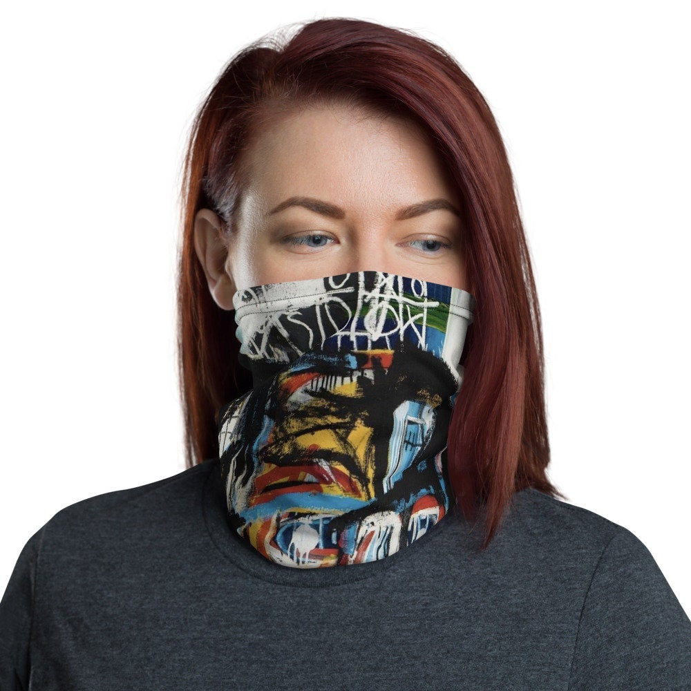 Basquiat Skull : Face Mask Neck Gaiter