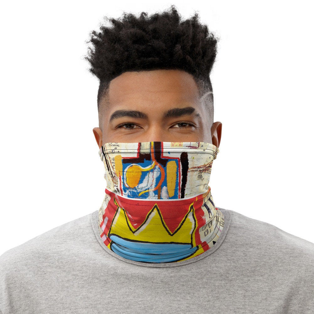 Basquiat Crown Face Cover Neck Gaiter