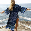 TEELYNN women Cardigan Boho blouse shirt 2020 rayon floral print flare sleeve robe summer blouses beach wear Gypsy blouse Blusa