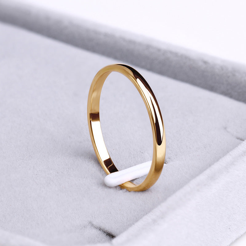 Bague simple Or rose