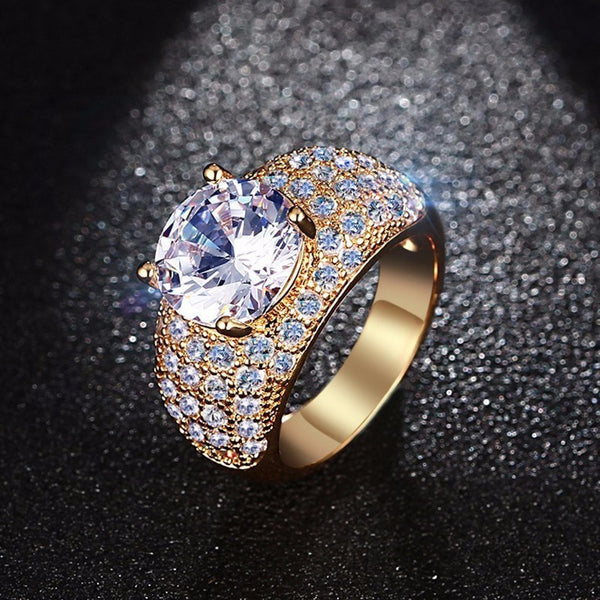 Grosse bague boheme multipes crystal