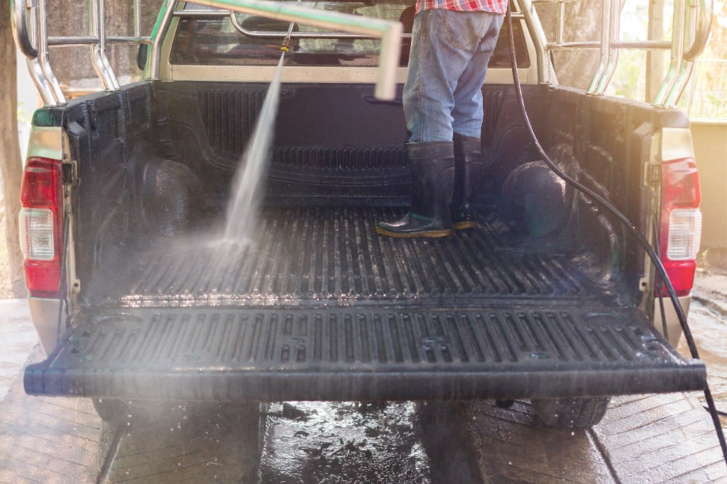 Cleaning a Pickup Truck Bed