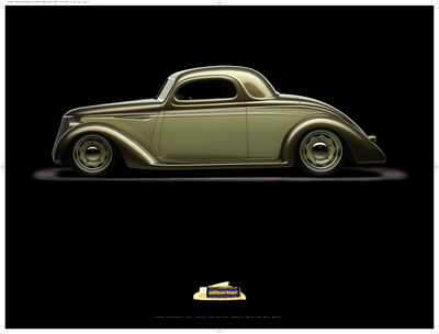 "1936 Ford 3-Window Coupe ""First Love"" Poster - Clean Tools Automotive"
