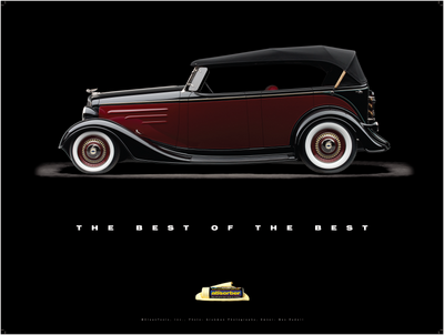"1935 Chevy Phaeton ""Black Bow Tie"" Poster - Clean Tools Automotive"
