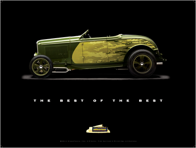 "1932 Ford Roadster ""Metal of Honor"" Poster - Clean Tools Automotive"