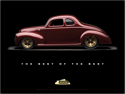 "1940 Ford Coupe ""Checkered Past"" Poster - Clean Tools Automotive"