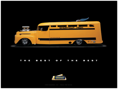 "1949 Ford School Bus ""Shortcut High"" Poster - Clean Tools Automotive"