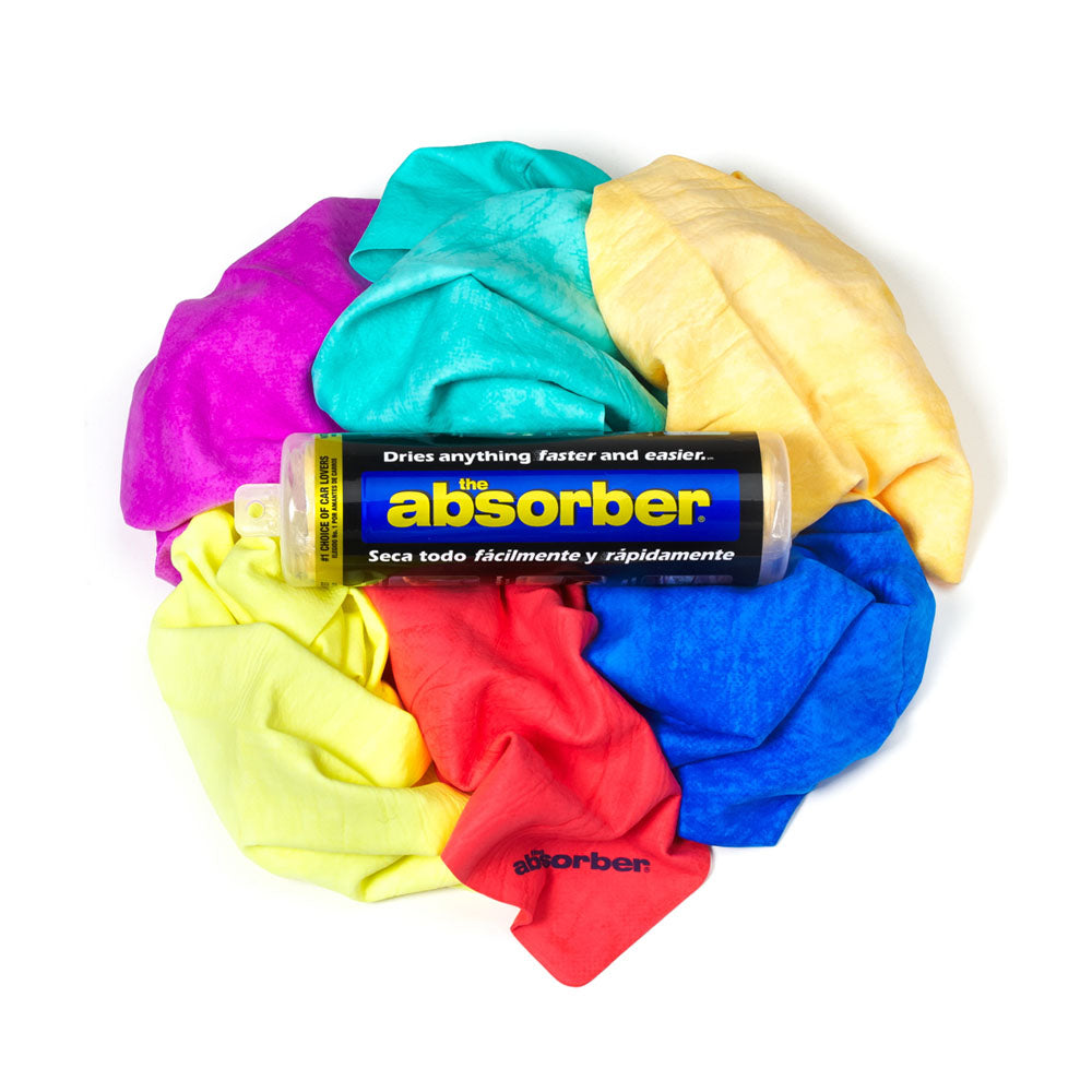 CleanTools The Original Absorber Synthetic Drying Towel Chamois 27-Inch by 17-Inch Case of 6