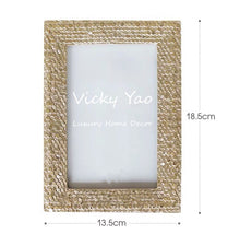 Load image into Gallery viewer, Vicky Yao Table Decor- Luxury Gold Resin Photo Frame - Vicky Yao Home Decor SEO