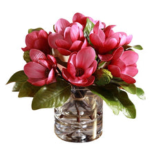 Load image into Gallery viewer, Vicky Yao Faux Floral - Exclusive Design Pink Artificial Magnolia Floral Arrangement