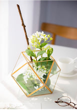 Load image into Gallery viewer, Vicky Yao Faux Floral - Glass Flower House Metal Basket Floral Arrangement