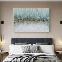 画像をギャラリービューアに読み込む, Vicky Yao Wall Decor - Luxury Golden Blue Ocean Canvas Prints