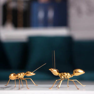 Vicky Yao Table Decor - Luxury Golden Small Decorative Ant / Insects