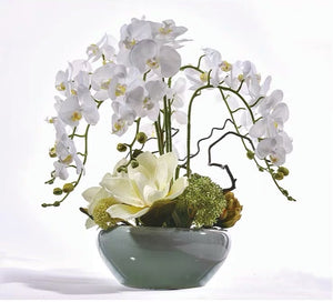 Vicky Yao Faux Floral - Exclusive Design Luxury Real Touch Artificial Orchid Arrangement In Pot
