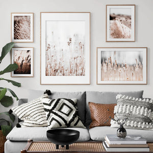 Vicky Yao Wall Decor - Grass White Serious 5 Sets Canvas Prints
