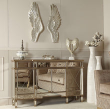 Load image into Gallery viewer, Vicky Yao Luxury Furniture-Golden Mirrored Buffet - Vicky Yao Home Decor SEO