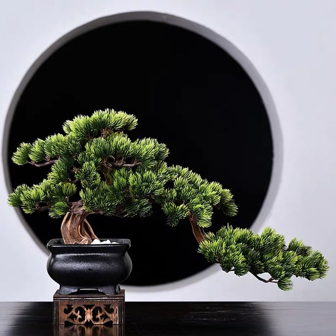 Vicky Yao Faux Plant - Exclusive Design Artificial Bonsai In Black Pot