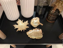 Load image into Gallery viewer, Vicky Yao Table Decor- Gold Metal Leaf Ring Tray - Vicky Yao Home Decor SEO