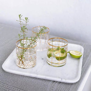 Vicky Yao Table Decor - Exclusive Design Handmade Gold Clear Toothbrush Cup 400ml
