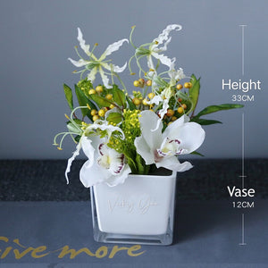 Vicky Yao Faux Floral - Exclusive Design Artificial Lovely Orchid Arrangement