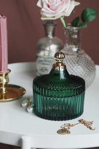 Vicky Yao Table Decor - Vintage Green Luxury Jewelry Cotton Jar