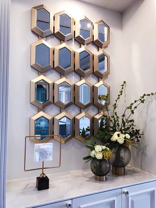 Vicky Yao Wall Decor - Handmade Luxury Stunning Mirrored Wall Decor