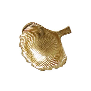 Vicky Yao Table Decor- Gold Metal Leaf Ring Tray - Vicky Yao Home Decor SEO