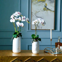Load image into Gallery viewer, Vicky Yao Faux Floral - Luxury White Vase Artificial Orchid Arrangement