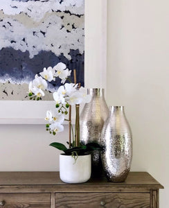 Vicky Yao Faux Floral - Real Touch Artificial Phalaenopsis Orchid Arrangement In White Pot