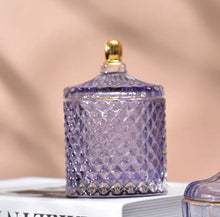 將圖片載入圖庫檢視器 Vicky Yao Table Decor - Exclusive Color Dream Luxury Lavender Purple Lilac Cotton Jar S2